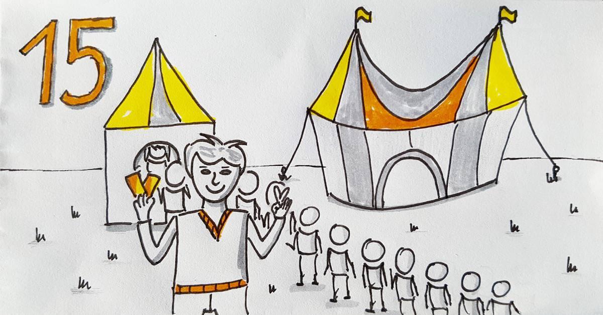 Nur noch 15 Karten für den Zirkus Freiräume